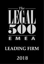 Legal 500 Europe, Middle East and Africa 2018